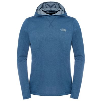 The North Face Mens Reactor Fleece Hoodie Shady Blue XL