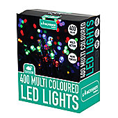 400 LED Multi Coloured Multi Action Christmas Xmas Decoration Indoor or Outdoor Lights