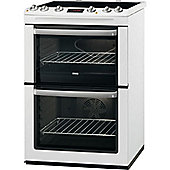 Zanussi ZCV665MWC 600MM, White Double Oven, Electric Cooker