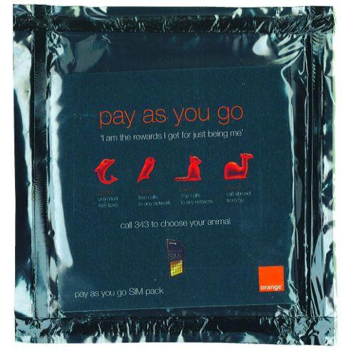 Preloaded Orange SIM card with £10 Credit