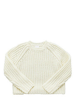 F&F Cable Knit Cropped Jumper - Cream