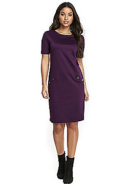 Wallis Ponte Shift Dress - Purple