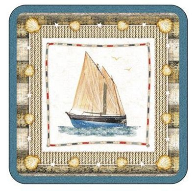 Pimpernel Coastal Breeze Coasters, Set of 6