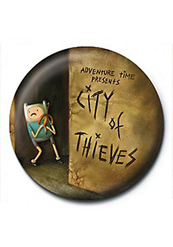 Adventure Time City of Thieves Brown AT Badge - Brown