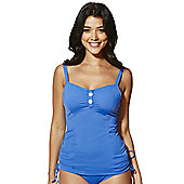 Curvy Kate Luau Love Fuller Bust Tankini Top - Blue