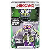 MECCANO Tech Micronoid Green Switch Interactive Dancing Robot Spinmaster 6027338