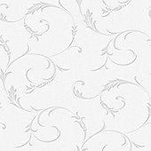 Wallpaper diy home decorating tesco superfresco athena scroll linen textured grey wallpaper gumiabroncs Choice Image