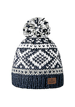 Barts Ladies Log Cabin Beanie - Navy