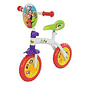 "Teletubbies 2 in 1 Training Bike 10"" Balance Bike to Pedal Bike Age 2+"