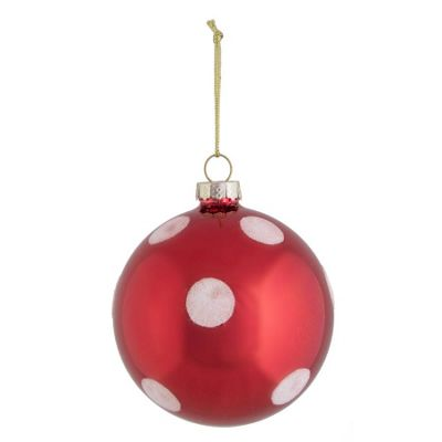 Red Large Spot Bauble