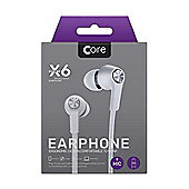 Core X6 In-Ear Earphones - White