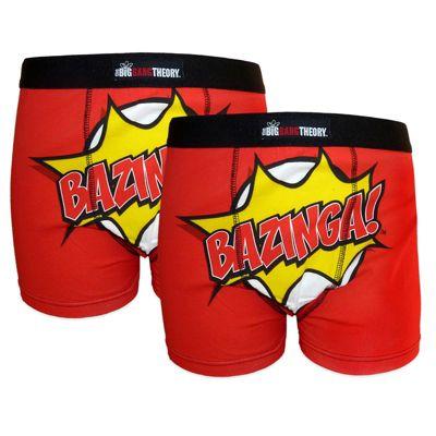The Big Bang Theory Mens Boxer Shorts 2 Pack Medium
