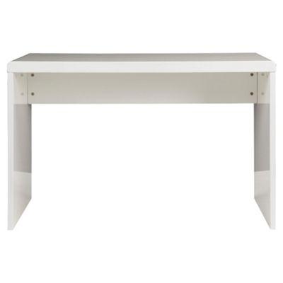 Viva High Gloss Office Desk, White
