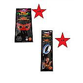 Super Colour Big Glow BUNDLE - Glow Triple Bracelet x 4 & Glow Face Mask x 4 - 8 Items