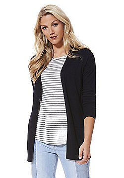 F&F Open Front Long Line Cardigan - Navy