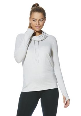 F&F Active Soft Touch Drawstring Neck Sweatshirt Light Grey S