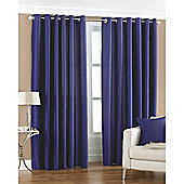 Riva Home Fiji Faux Silk Eyelet Curtains - Blue