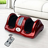 Homcom Electric Foot Leg Massager Blood Booster Shiatsu w/ Remote Control (Red)