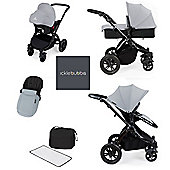 ickle Bubba V2 Stomp AIO Travel System with Safety Mosquito Net - Silver (Black Chassis)