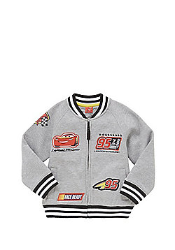 Disney Pixar Cars Badge Jersey Bomber Jacket - Marl grey