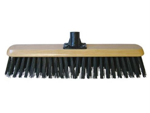 Faithfull 18-inch PVC Platform Broom Head Threaded Socket, Black