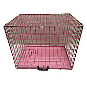 PGO Pink Puppy Cage Crate