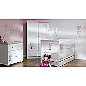 OBaby Minnie Mouse Double 3pc Room Set (White with Pink Trim)