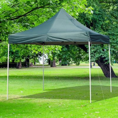 Outsunny 3M x 3M Pop-up Garden Canopy Party Marquee Gazebo w/Carry Bag - Green