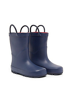 Mothercare Clothing Navy Pull On Wellies Wellington Boots Size 1 adlt