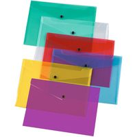 Q-Connect Document Folder Polypropylene A4 Assorted Pack of 12 KF03599