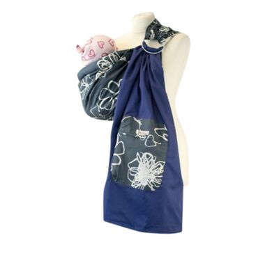 Palm and Pond Ring Sling Baby Carrier - Grey/White Floral