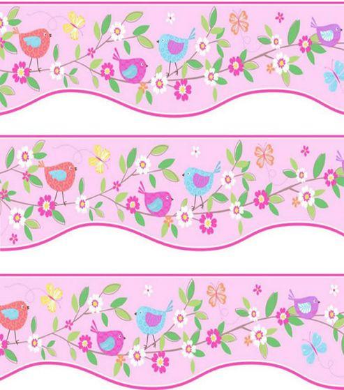 Birds Self Adhesive Shaped Wallpaper Border