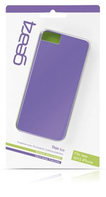 Gear4 Thin Ice Liquid Rubber Clip-On Case Cover for iPhone 5/5S - Purple