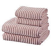 100% Cotton 2 Hand 2 Bath Towel Bale - Pink Rib