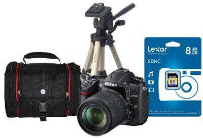 DS Nikon D7000 SLR Kit 1 inc 18-105mm VR Lens, SLR Bag, Tripod, 8Gb SDHC