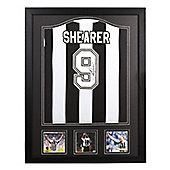 Framed Alan Shearer signed Newcastle shirt