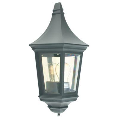 Black Half Lantern - 1 x 60W E27