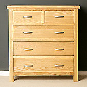 London Oak 2+3 Chest of Drawers - Light Oak