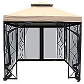 Charles Bentley 3M Steel Art Gazebo With Flying Screen