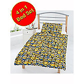 Despicable Me Minions 4 In 1 Junior Bedding Bundle (Duvet, Pillow And Covers)