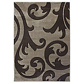 Hand Carved Elude Beige & Brown Rug - 200x290cm