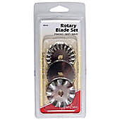 Sew Easy Assorted (Pinking Wave & Skip) Cut 45mm Rotary Cutter Blades (3 Blades)