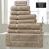 Belledorm Hotel Suite Madison 600 GSM Hand Bath Towel Sheet Pebble - Pebble