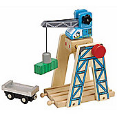 Toys for Play Loading Crane for Wooden Railway Train Set 50087