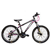 Tiger ACE 27.5 Front Suspension Mountain Bike Black Pink