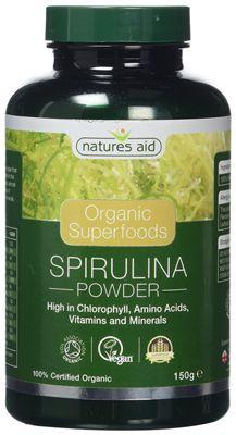 Natures Aid Organic Spirulina Powder - 150g