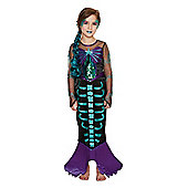 F&F Skeleton Mermaid Halloween Costume - Black