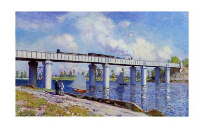 Claude Monet The Bridge at Argenteuil Print