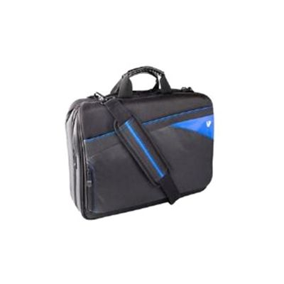V7 CTD1 Edge Toploader Carry Case (Black/Blue) for 16.1 inch Notebooks