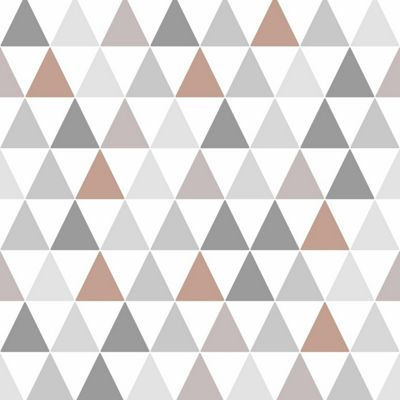 Superfresco Easy Tarek Copper Geometric Wallpaper